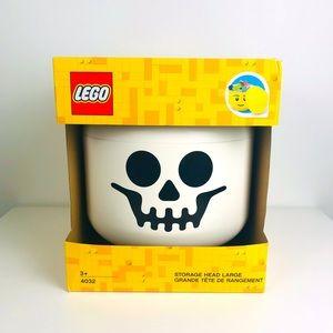 Lego Skeleton Skull White Black Large Storage Head Container